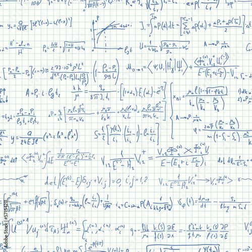 Seamless background of many formulas.