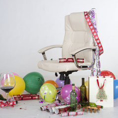 Office party Chair at Christmas time
