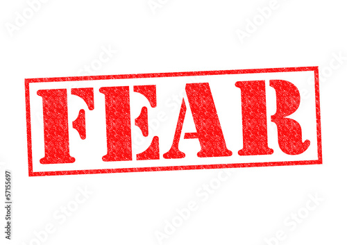 FEAR Rubber Stamp
