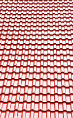 Red ceramic roof
