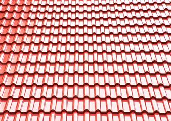 Red ceramic roof