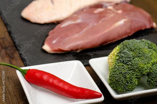 Chili und Brokkoli