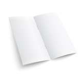 Blank paper brochure with clips.
