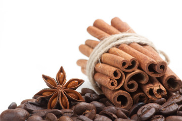 Coffee, cinnamon and star anise