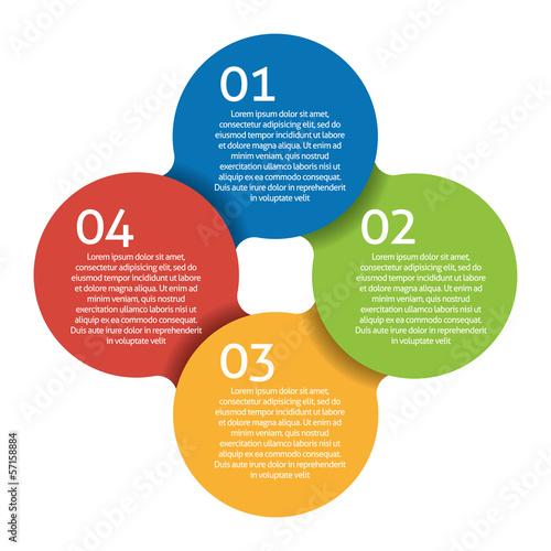 Four steps process - design element. Vector.