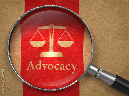 canvas print picture Advocacy Concept.