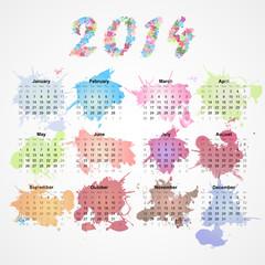 grunge splash calendar for 2014