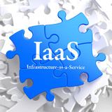 IAAS. Puzzle Information Technology Concept.