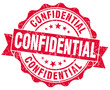 confidential red vintage grunge isolated seal