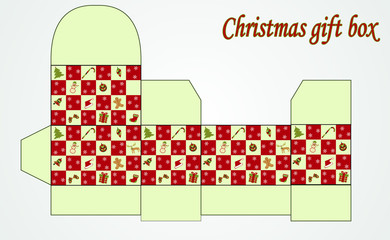 christmas gift folder box