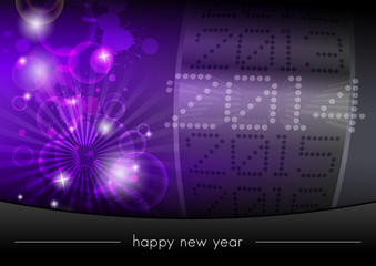Modern vector template for New Year's Eve party 2014