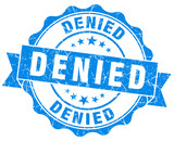 denied blue grunge vintage isolated stamp