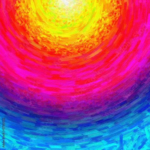 Plakat Licht der Hoffnung - Ölmalerei, abstrakt
