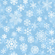 Christmas seamless pattern withsnowflakes on cyan