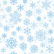 Christmas seamless pattern with cyan snowflakes