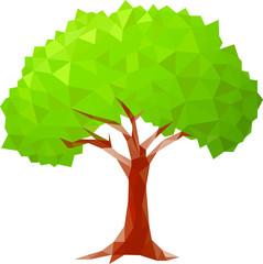 polygonal tree. Vector illustration