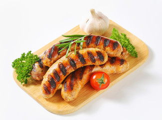 Grilled bratwursts