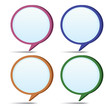 Set of speech bubbles.