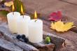 Herbstdekoration - Entspannung bei Kerzenlicht