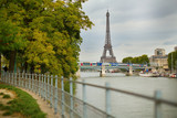 Autumn Parisian cityscape with the Eiffel tower