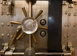 Huge Inenetrable Vintage Bank Vault Massive Handle Combination