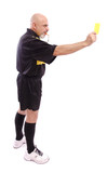 Soccer referee, full portrait.