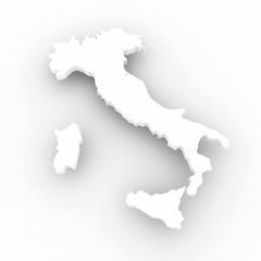 Cartina Italia 3d bianca
