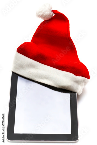 Digital Tablet with Christmass hat