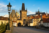 Morning view from Charles Bridge in Prague