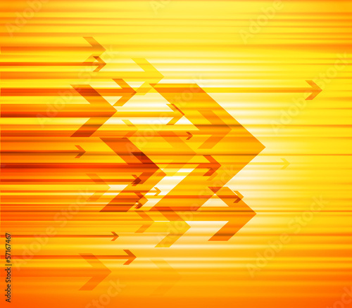 Abstract illustration with arrows and place for text.