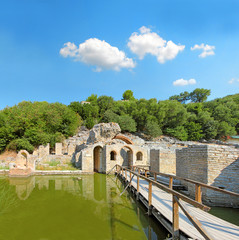 Archeological site of Butrint in Albania. WH Site by UNESCO