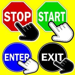 ICONA LINK STOP START EXIT ENTER