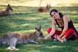 Girl and the Kangaroos