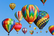 canvas print picture - colorful hot air balloons against blue sky
