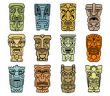 Tribal masks of idols and demons