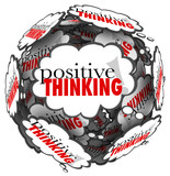 Positive Thinking Words Thought Clouds Sphere