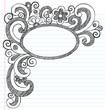 Oval Doodle Frame Border Sketchy Back to School Doodles