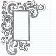 Rectangle Doodle Frame Border Sketchy Back to School Doodles