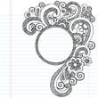 Circle Doodle Frame Border Sketchy Back to School Doodles