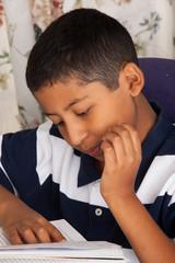 Hispanic Child Reading