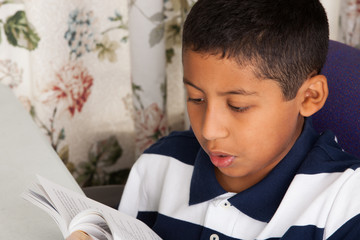 Hispanic Child Reading