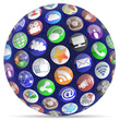 Social Media Digit Sphere Round Icons