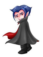 Cute cartoon illustration of Dracula