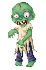 Cartoon illustration of a zombie