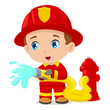Cartoon illustration of a firefighter - 57173450