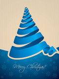 Christmas tree shaped ribbon background