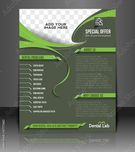 Vector dental Flyer & Poster Template