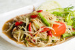 Thai food hot and spicy papaya salad