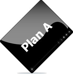 Video media player for web with plan a word