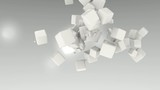 3D ANIMATED WHITE CUBES